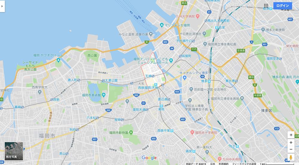 福岡県内のマップ