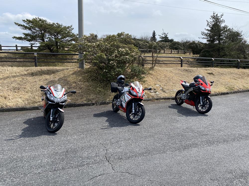 大阪のRS4オーナー3人と愛知からお越しだったトゥオーノ V4オーナーの4人で青山高原ツーリング その10