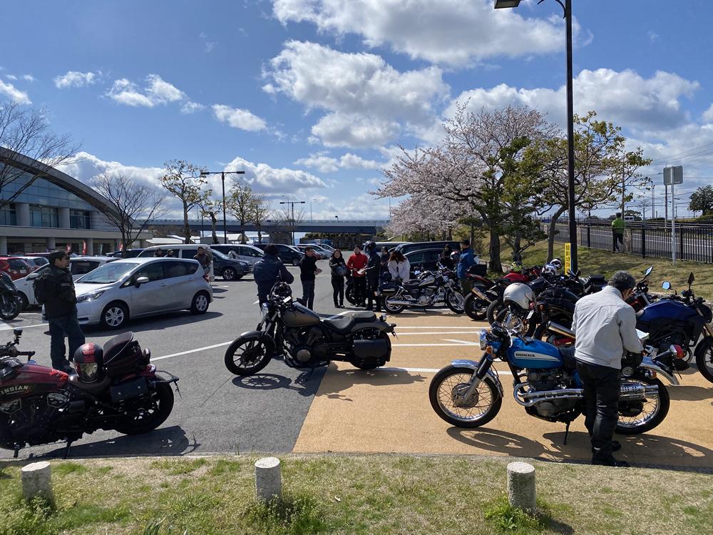 琵琶湖の海津大崎の桜満開ツーリング その2