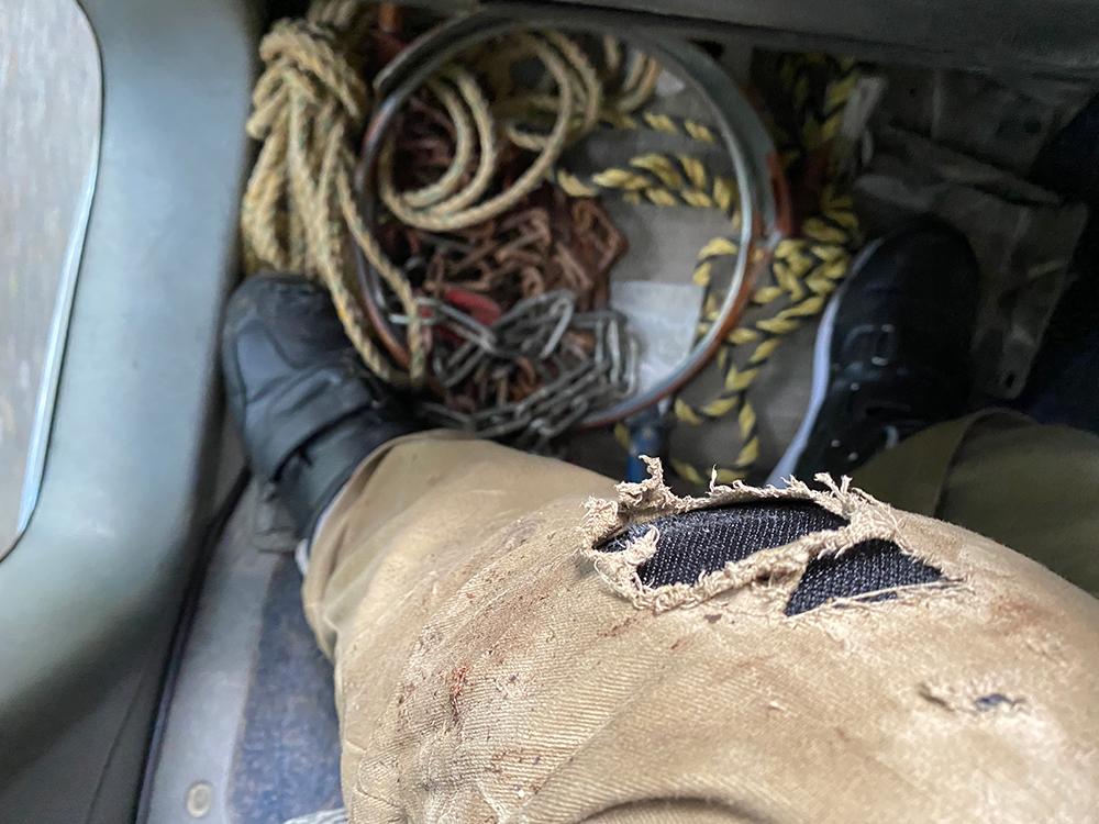 プロテクターに守られた自損事故、国道371号にて その3