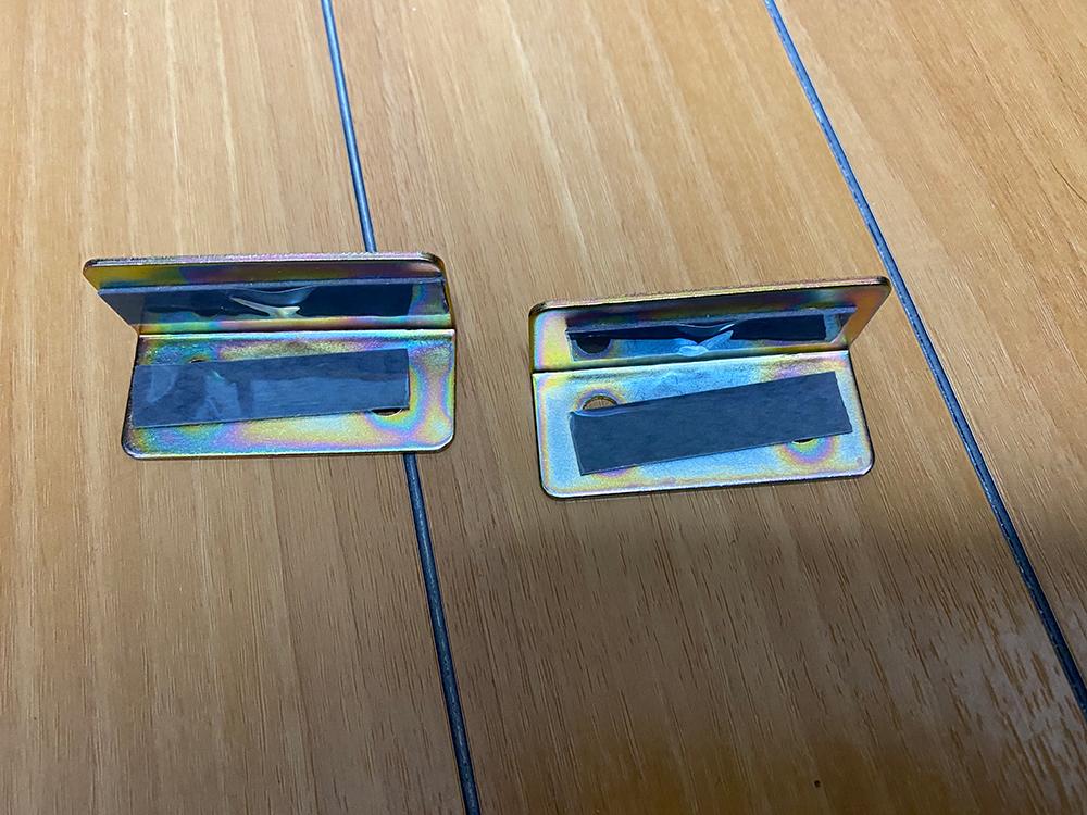 デグナーの17Lサドルバッグの底の部分をアングルで補強してみました その5