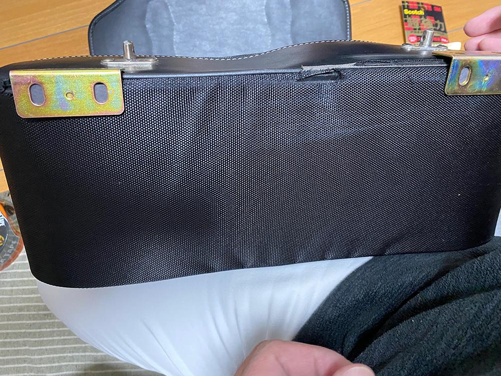 デグナーの17Lサドルバッグの底の部分をアングルで補強してみました その6