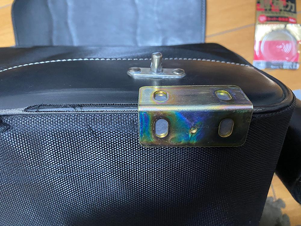 デグナーの17Lサドルバッグの底の部分をアングルで補強してみました その7
