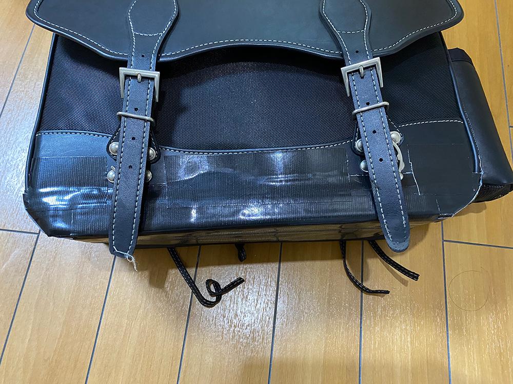 デグナーの17Lサドルバッグの底の部分をアングルで補強してみました その10