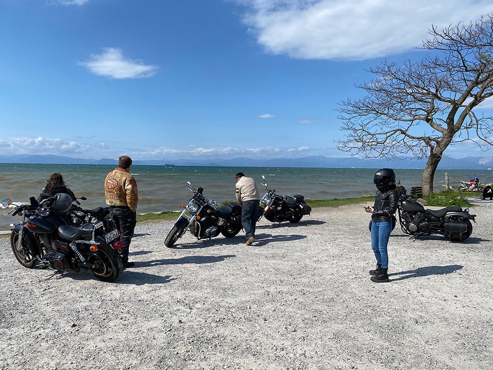 アメリカン5台でビワイチに行ってきました その5